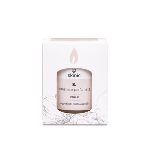 Lumanare vanilie ceara de soia SKINIC